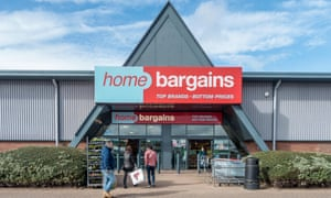 The Home Bargains store in Reading, Berkshire.