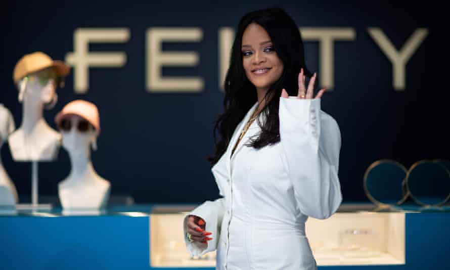 Rihanna at a promotional event for her brand Fenty in Paris on 22 May 2019.