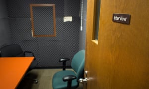 Cold Cases.<br>3/14/16 An interview room in the Detective Bureau office of Camden County Police Department. Camden, New Jersey.Photograph by Joshua Bright
