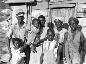 Lewis Hunter, with his family, Lady's Island, Beaufort, 1936 from A Vision Shared