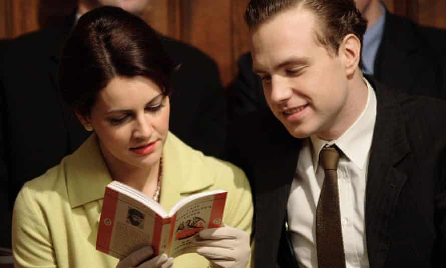 Louise Delamere and Rafe Spall in the 2006 TV drama The Chatterley Affair.