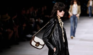 A model for Celine on the catwalk in Paris: 'For the most part the show presented a very realistic way of dressing ...'