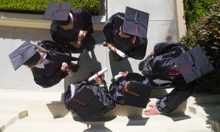 Graduates in caps and gowns