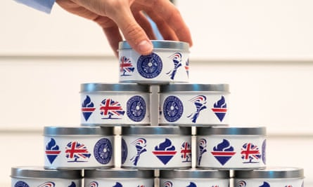Tins of candles on sale at the Tory conference venue in Birmingham. The party failed to light up the public, however, with their overall support remaining unchanged.