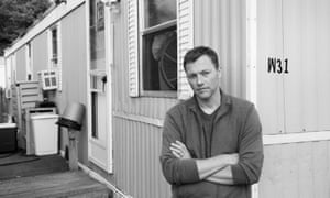 Matthew Desmond outside the trailer in Milwaukee he lived in while researching his book Evicted.