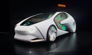 The Toyota Concept-i vehicle at the 2017 International Consumer Electronics Show in Las Vegas