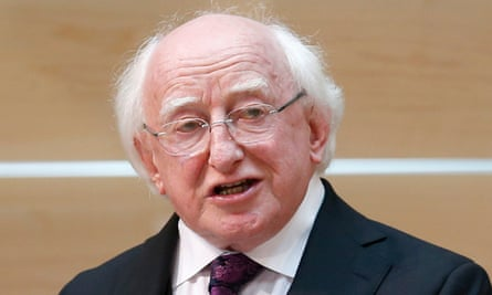 Ireland's president Michael D Higgins: