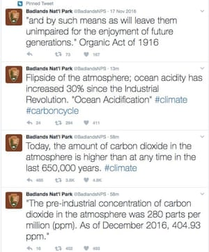 Badlands National Park's now-deleted tweets on climate change