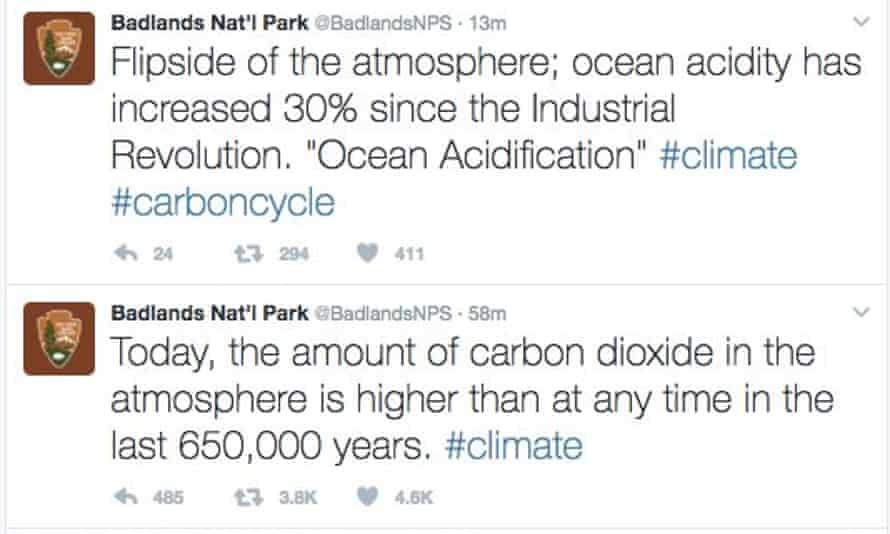 Badlands National Park's now-deleted tweets on climate change
