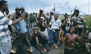 Bad old days: rebel child soldiers in the civil war, 1992.