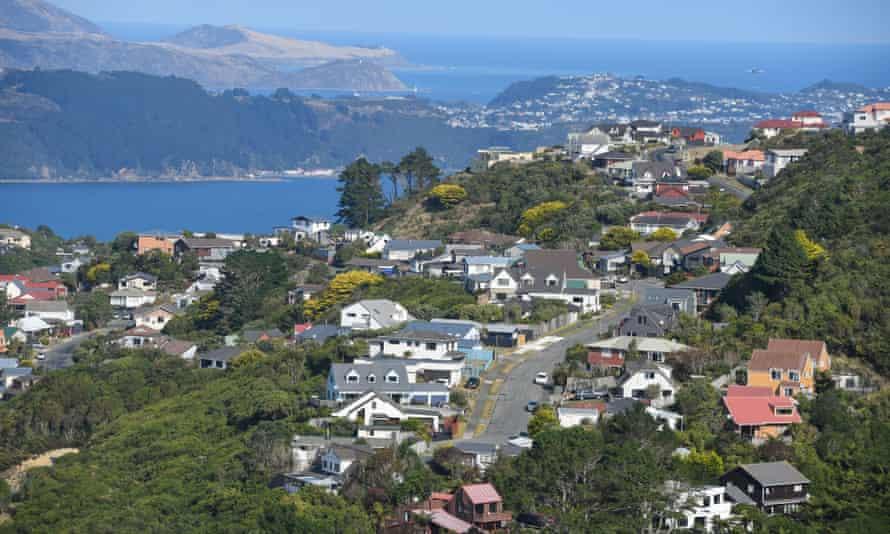 A residential area near Wellington, New Zealand