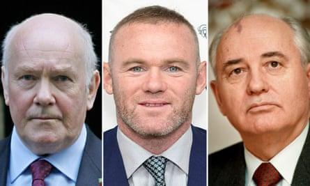 John Reid, Wayne Rooney and Mikhail Gorbachev