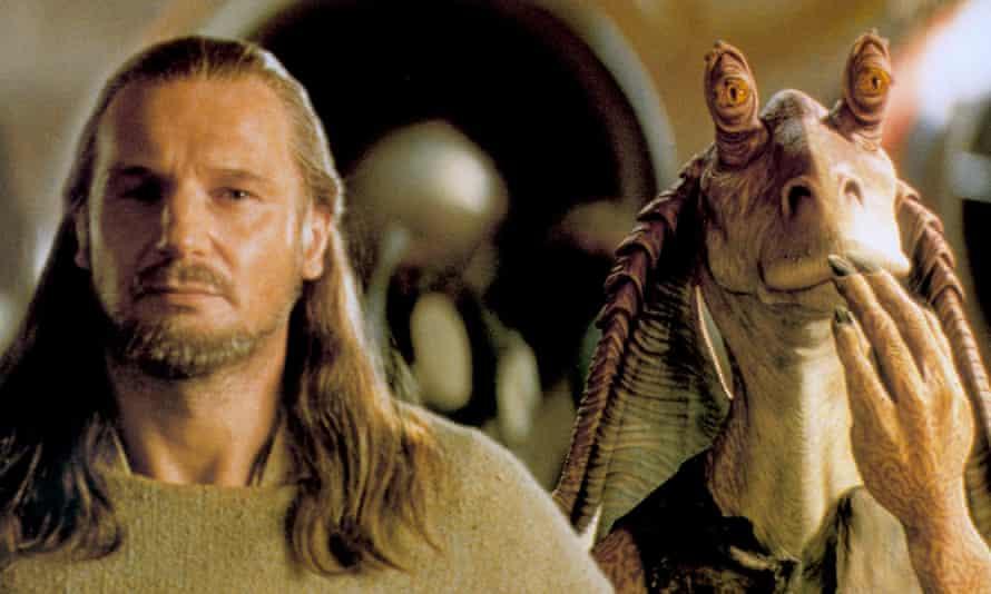 … Liam Neeson alongside Jar Jar Binks.