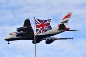 A British Airways passenger plane.