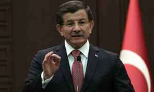 'When there is any threat to Turkey, we will take in Syria the measures that we took in Iraq', said Ahmet Davutoğlu, referring to raids on Kurdish militias.
