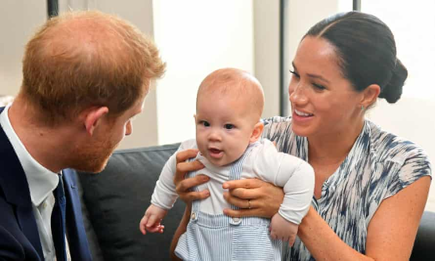 The Duke and Duchess of Sussex with Archie in 2019.