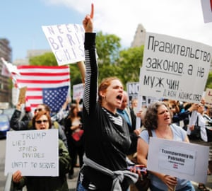 The rally took place in Foley Square, New York.