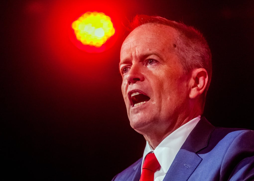 Labor leader Bill Shorten kept assuring environmentalist Geoff Cousins that he wanted to change his party's position on Adani's Carmichael coalmine. Photograph: Phillip Biggs/AAP