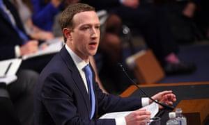 Mark Zuckerberg testifies before the Senate commerce and judiciary committees.