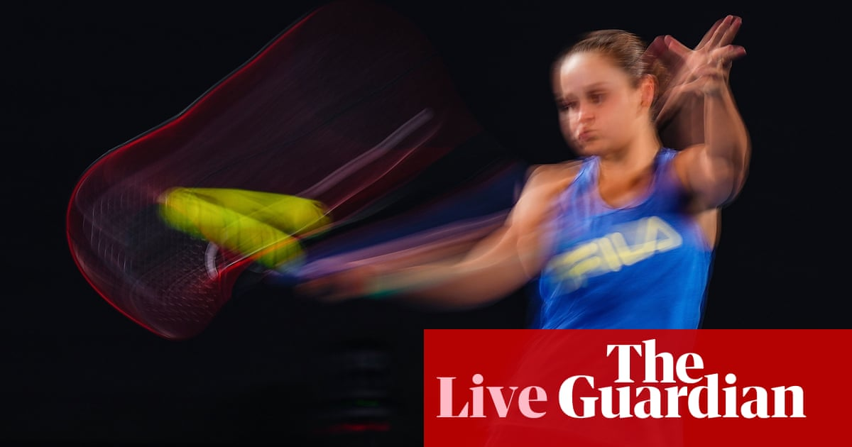 Australian Open 2020 day one: Barty v Tsurenko, Djokovic in action and more – live!