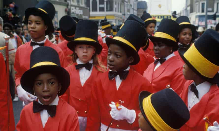 Sharon Holmen-Reddi at Notting Hill carnival, 1976