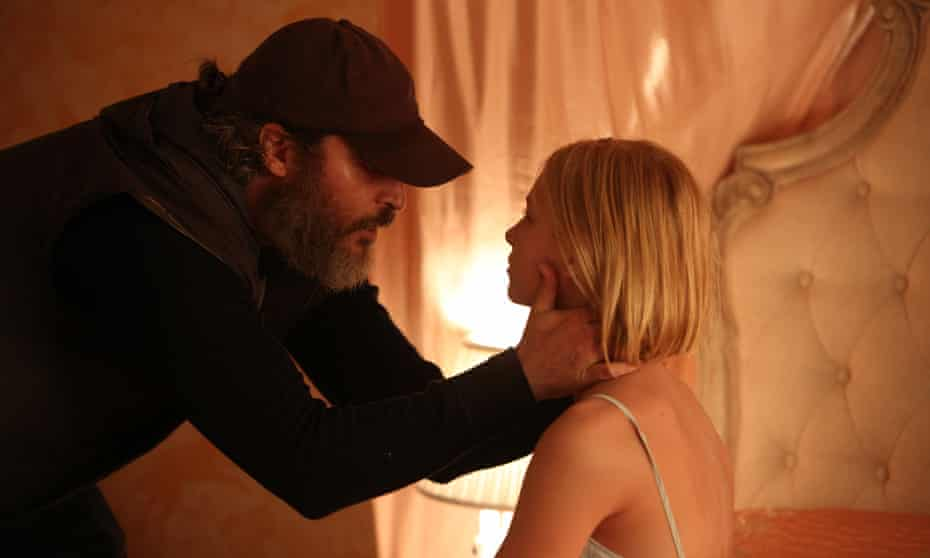 Joaquin Phoenix and Ekaterina Samsonov in the film version of You Were Never Really Here.