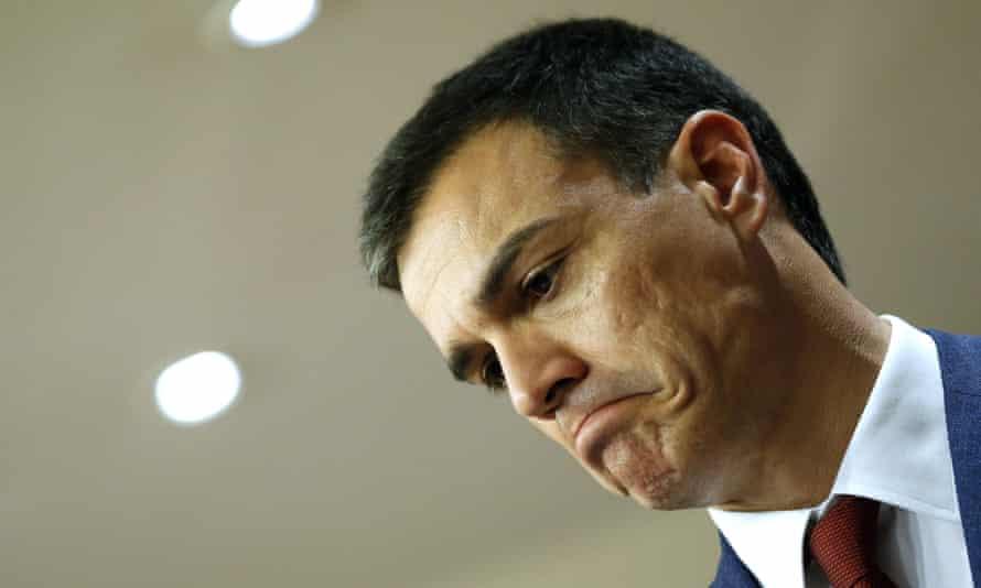 Spanish Socialist party leader Pedro Sánchez