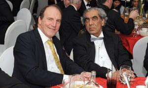 Sudhir Choudhrie with former Liberal Democrat deputy leader Simon Hughes in 2014