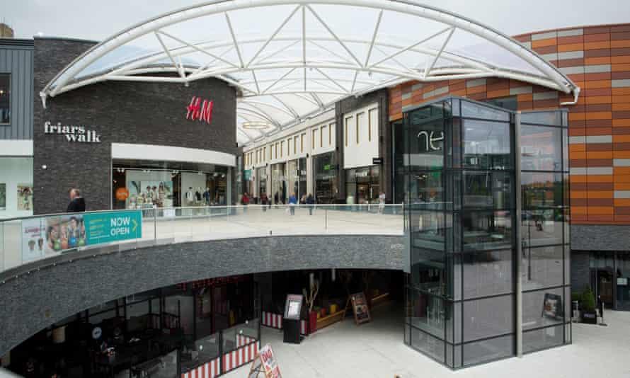 Newport's new Friar's Walk shopping complex.