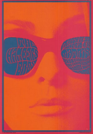 """Victor Moscoso, The Chambers Bros at the Matrix, 1967Before his death, publishing magnate Felix Dennis built up an impressive collection of psychedelic music posters. Cultural historian Barry Miles, who worked with Dennis on his collection, introduces each image. 'Victor Moscoso declared that """"the musicians were turning up their amplifiers to the point where they blowing out your eardrums. I did the equivalent with the eyeballs.""""' The posters are on show at Cultural Traffic, Juju's Bar and Stage, London, 7-8 October. All posters courtesy Shapero Modern"""