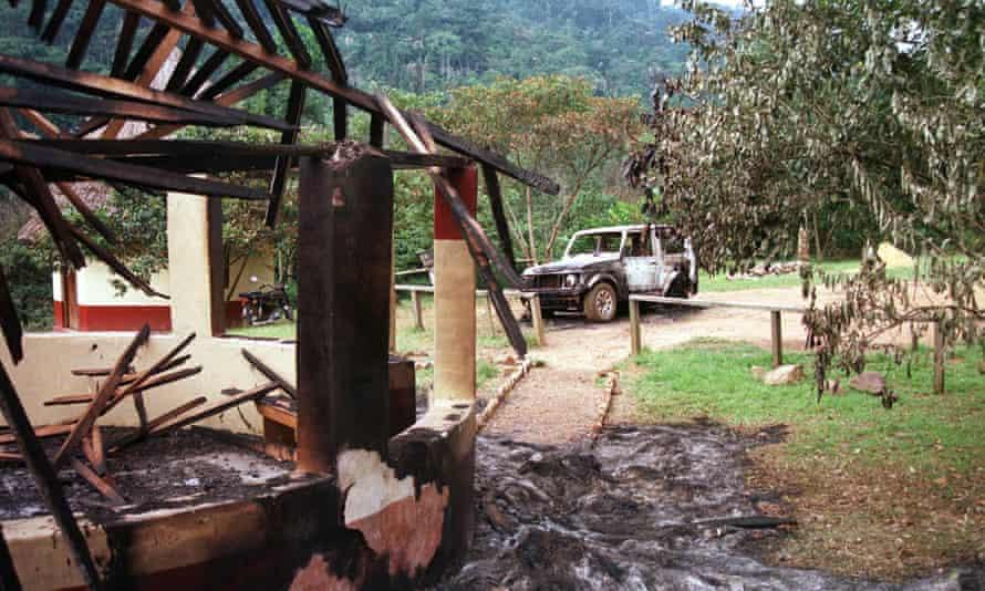 The Bwindi camp devastated in a rebel attack in 1999.