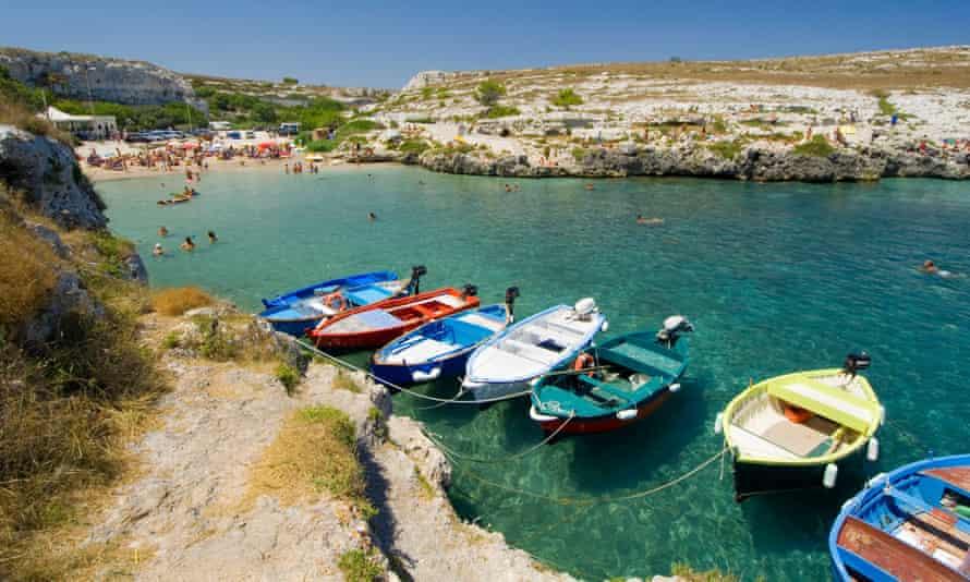la marina di Porto Badisco Salento Puglia Italy
