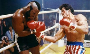 'I want it to kick ass' … Sylvester Stallone fights Mr T in Rocky III.