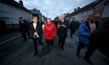 Labour Party leader Jeremy Corbyn campaigning in Bentley, Doncaster, South Yorkshire.
