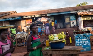 The streets of Boda in Central African Republic