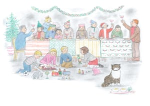 An illustration from Mog's Christmas Calamity