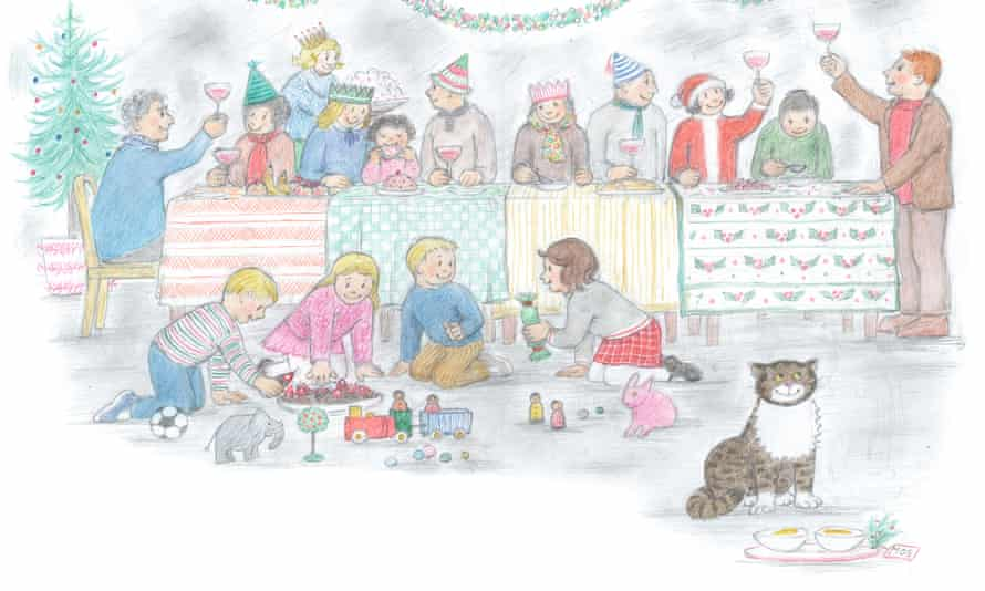 illustration from Mog's Christmas Calamity by Judith Kerr.