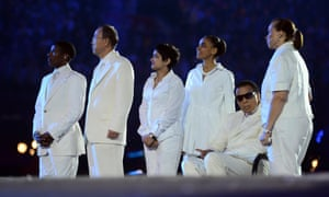 Ali during the London Olympic Games 2012 Opening Ceremony