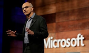Microsoft's stock price has tripled since Satya Nadella, chief executive officer, took the helm in 2014.