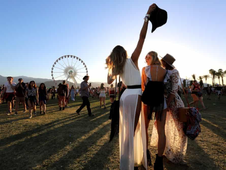 girls at Coachella festival