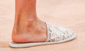 Well-heeled slippers at Balenciaga.