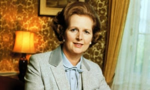 Margaret Thatcher, pictured in 1981 in a pussy-bow blouse.
