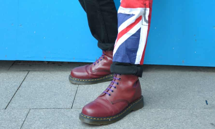 Punk wearing a pair of Dr Martens