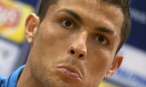 Real Madrid press conference<br>epa05164998 Real Madrid's Cristiano Ronaldo during a press conference at the Olympic Stadium in Rome, Italy, 16 February 2016. Real Madrid faces AS Roma in a UEFA Champions League soccer match on 17 February 2016.  EPA/CLAUDIO PERI