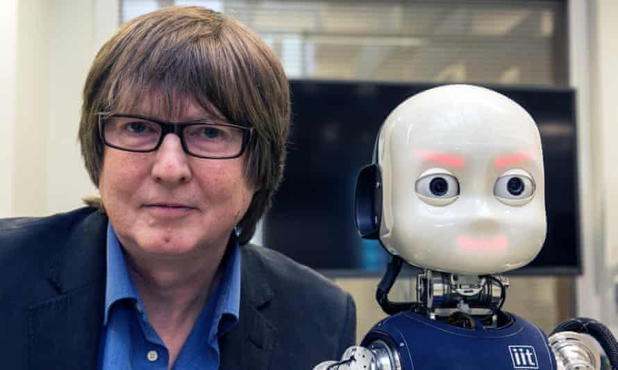 iCub Research Robot with Prof Tony Prescott, at Sheffield University.