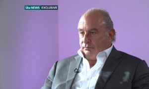 Sir Philip Green during his ITV News interview.