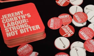 Jeremy Corbyn campaign badges and coasters