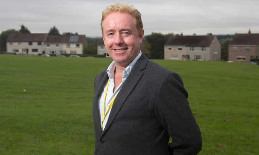 'I just love it' … Mark Millar in Coatbridge.