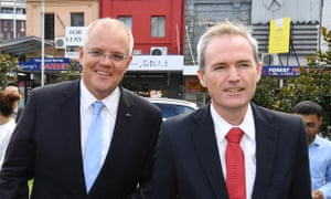 Australian prime minister Scott Morrison with immigration minister David Coleman