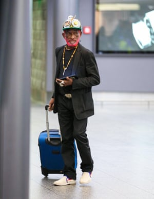 Lee 'Scratch Perry' arriving at Zurich airport